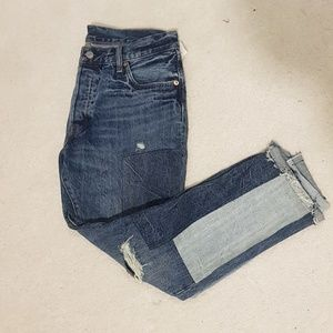 Levi 501 Jean's with super cute patches